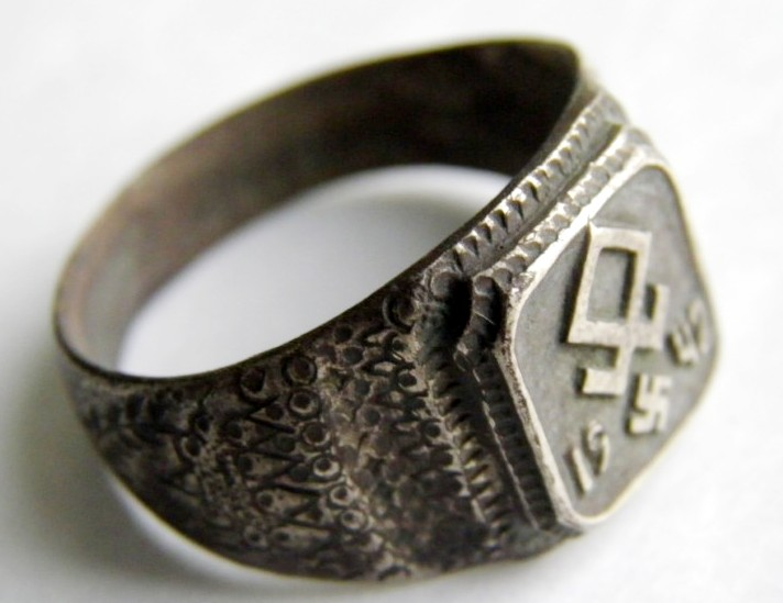 """Waffen SS/ Anillo en Plata """"800"""" de la Gebirgs Division """"Prinz Eugen"""""""